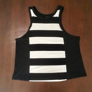 Tops - Black & White Striped Tank